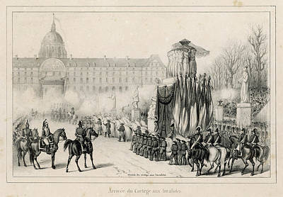 The Funeral Cortege Carrying Art Print