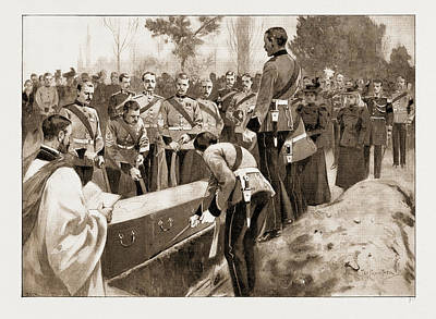 The Funeral Of A Benin Hero Lowering The Body Of Captain Art Print by Litz Collection