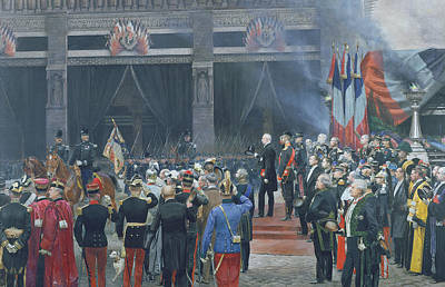 The Funeral Of Louis Pasteur 1822-95 5th October 1895, 1897 Oil On Canvas Art Print by Jean-Baptiste Edouard Detaille