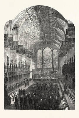 The Funeral Of The Late Duchess Of Kent The Choir Of St Art Print