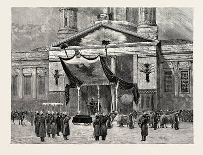 Berlin Drawing - The Funeral Of The Late Emperor William At Berlin by German School
