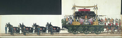 Funeral Procession Photograph - The Funeral Procession by British Library