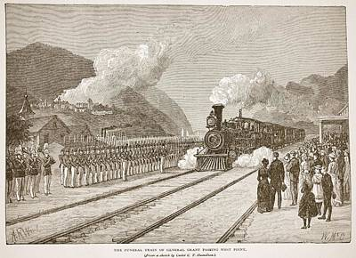 Honour Drawing - The Funeral Train Of General Grant by Alfred R. Waud