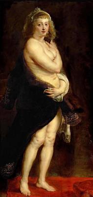 Het Painting - The Fur. Het Pelsken by Peter Paul Rubens
