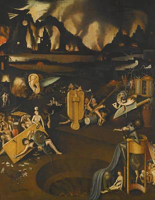 Hieronymus Bosch Painting - The Furnace Of Hell by Celestial Images