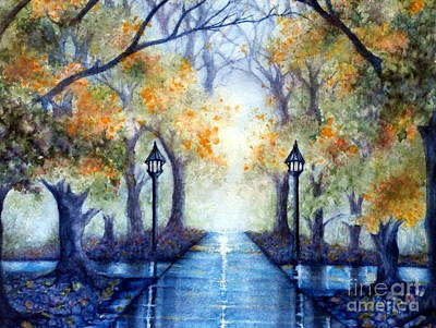 Mystical Landscape Painting - The Future Looks Bright by Janine Riley