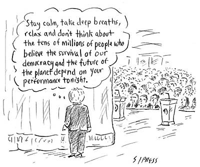 Cartoons Drawing - The Future Of The Planet Depend by David Sipress