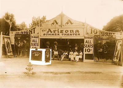 The Gamblers 1914 Lubin The Arizona Summer Theater Tent Tucson Arizona 1914-2008 Art Print by David Lee Guss