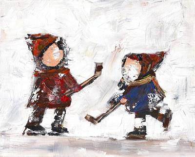 The Game Art Print by David Dossett