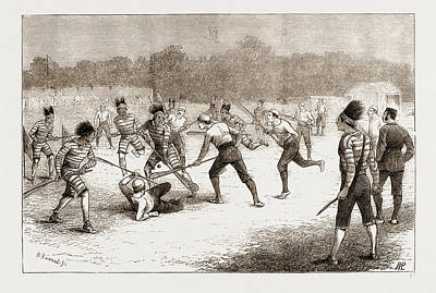 The Game Of Lacrosse, MÊlÉe Between Canadians Art Print