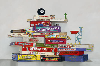 Painting - The Games People Play by Gail Chandler