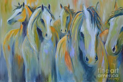 Wild Horse Painting - United by Cher Devereaux