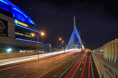 Sports Royalty-Free and Rights-Managed Images - The Garden and the Zakim by Joann Vitali