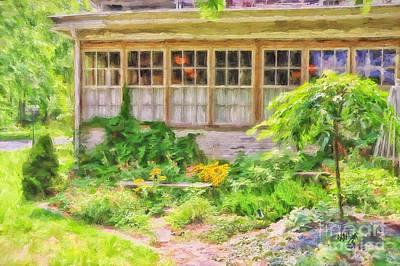 The Garden At Juniata Crossings Art Print by Lois Bryan
