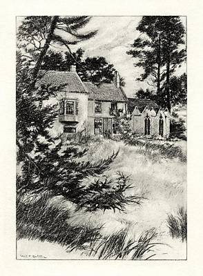 Britten Drawing - The Garden At Somersby Rectory by Celestial Images
