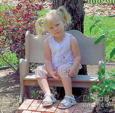 Photograph - The Garden Bench by Ruby Cross