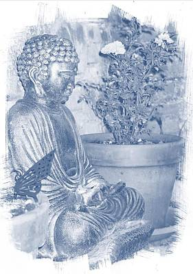 Photograph - The Garden Buddha by Dorothy Berry-Lound