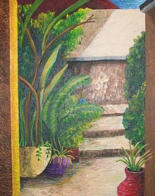 The Garden Entry Art Print by Dixie Lee Hedrington