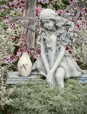 Photograph - The Garden Fairy by Peggy Hughes