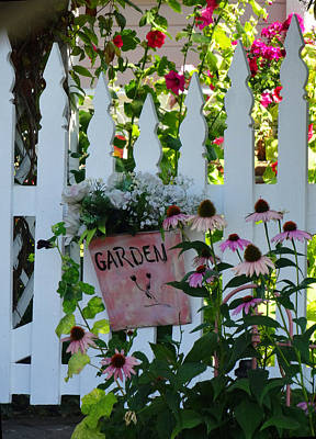 Photograph - The Garden Gate by Jacqueline  DiAnne Wasson