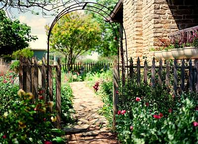 Medium Format Film Digital Art - The Garden Gate by Linda Unger