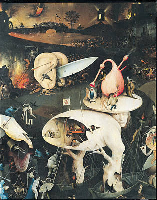 Drowning Photograph - The Garden Of Earthly Delights Hell, Right Wing Of Triptych, C.1500 Oil On Panel See 322, 3425 by Hieronymus Bosch