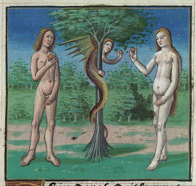 Bible Photograph - The Garden Of Eden by British Library