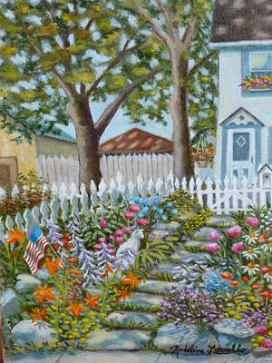 Painting - The Garden Of Indiscrimitive Plantings. by Madeline  Lovallo