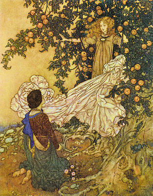 The Garden Of Paradise IIi Art Print by Edmund Dulac