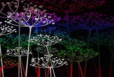 Mixed Media - The Garden Of Your Mind Rainbow 2 by Angelina Vick