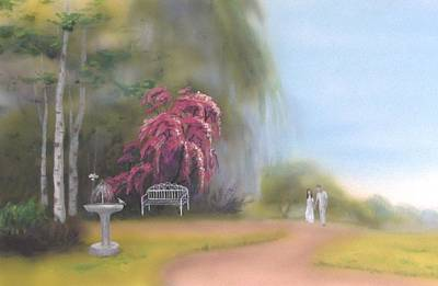 Painting - The Garden On The Hill by Dominic Sanson