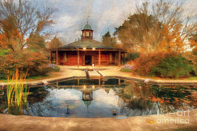 The Garden Pavilion Print by Darren Fisher