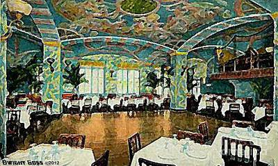 Painting - The Garden Restaurant In The Park Central Hotel In New York City In 1920 by Dwight Goss