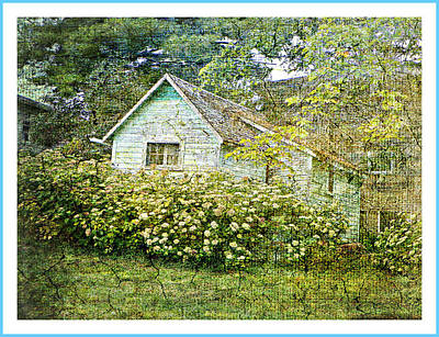 Photograph - The Garden Shed by Dianne  Lacourciere