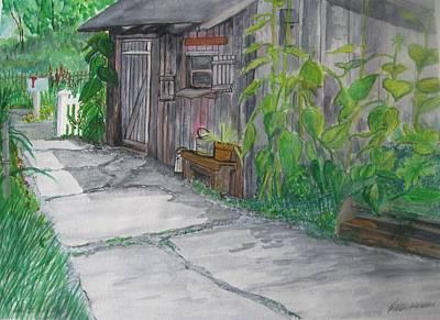 The Garden Shed Original by Kathleen Barlament