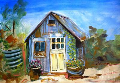 The Garden Shed Original by Therese Alcorn