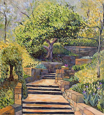 Painting - The Garden Stairs by Don Perino