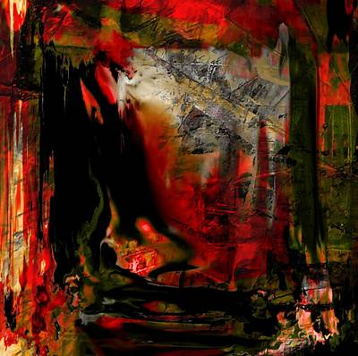 Inner Self Painting - The Garden Window by Shelda Whited