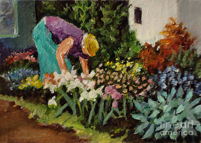 Painting - The Gardener by Diane Ursin