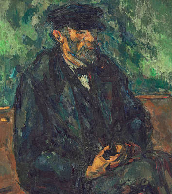Old Age Painting - The Gardener Vallier by Paul Cezanne