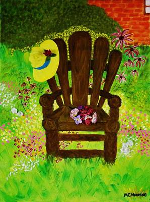 Art Print featuring the painting The Gardener's Chair by Celeste Manning