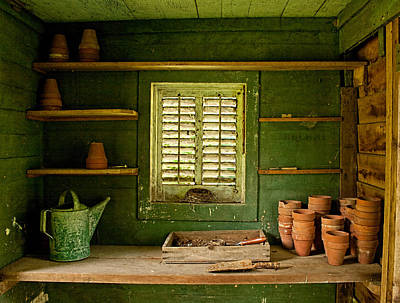 Photograph - The Gardener's Shed by Kristia Adams