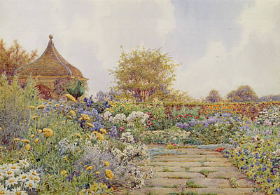 Prime Drawing - The Gardens At Chequers Court by Ernest Arthur Rowe