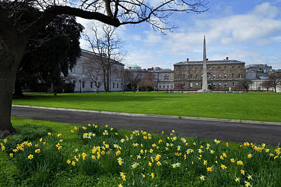 Historic Buildings Images Photograph - The Gardens At The Rear Of Leinster by Panoramic Images