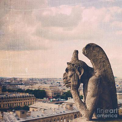 Hunchback Of Notre Dame Photograph - The Gargoyle Of Notre Dame by Maren Misner