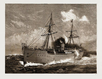 The Garth Castle, New Steamer Of The Castle Line Of South Art Print by Litz Collection