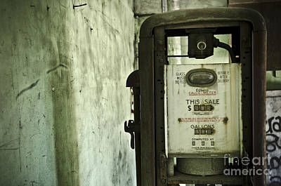 The Gas Pump  Art Print by Jessica Berlin