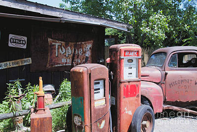Photograph - The Gas Pumps by William Norton