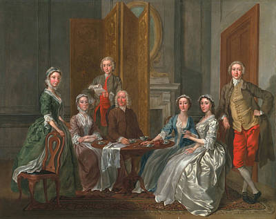 Teatime Painting - The Gascoigne Family, C.1740 by Francis Hayman