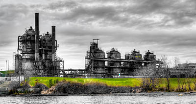 Photograph - The Gasworks Park On Lake Union - Seattle Washignton by David Patterson
